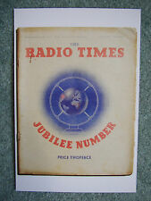Postcard Vtg Radio Time cover 3 May 1935 Silver Jubilee King George V Coronation