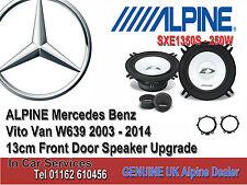 Mercedes Vito W639 2003-2014 Altavoz De La Puerta Delantera Coche Alpine 250W Kit de actualización