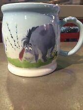 disney parks eeyore with flower 16oz ceramic coffee mug cup new
