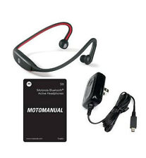 oEM MOTOROLA S9 BLUETOOTH MOTOROKR STEREO HEADSET WIRELESS HEADPHONES RED/BLACK