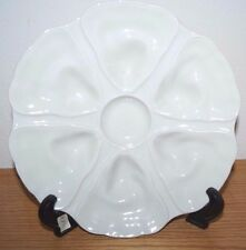 VINTAGE FRENCH FRANCE LIMOGES OYSTER PLATE DISH SAKS FIFTH AVENUE