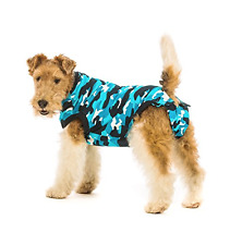 NWOT Suitical Recovery Suit Medium Dog Blue Camo M Post Surgery Incontinence