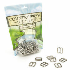 10 - Country Brook Design® 3/4 Inch Metal Round Wide-Mouth Triglide Slides