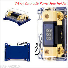 2-Way Car Audio Power Fuse Holder Cable Connecting Spliter Distribution Blocks