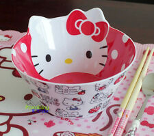 New Cute Hello Kitty Rice Soup Bowl Kitchen Die-Cut Melamine Bowl