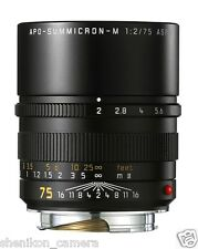 100% New Unused Leica APO-SUMMICRON-M 75mm F2 f/2 ASPH. 6-Bit M 240 M9 11637