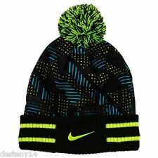 Nike Varsity Air Beanie Hat Black/Volt Girl's Youth Size 8/20 NWT