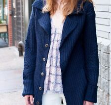 NWT ZADIG & VOLTAIRE Navy Chunky Wool Alpaca Blended Knit Cardigan Size XS $490