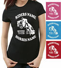 HORSE RIDING Equestrian PERSONALISED LADIE FIT T-SHIRT SHOW JUMPING