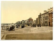 2 Victorian Views Redcar Promenade Beach Repro Old Antique Photos Pictures NEW