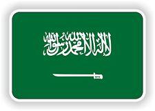 """Arabie Saoudite Autocollant Drapeau 2,8 x4 """"Voiture Pare-chocs Autocollant Réfrigérateur TABLETTE PORTE vélo camion"""