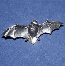 Witchcraft Pewter Gothic Wings Spread Bat Brooch Pin