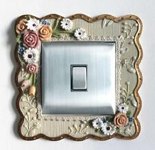Gorgeous Resin Single Light Switch Surround Socket Finger Plate Panel Cover, 22