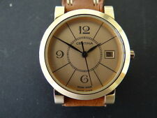 VINTAGE WOMEN'S CERTINA GOLD PLATED LEATHER STRAP QUARTZ WATCH WORKING