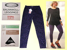 Damen Stretch Hose Leggings Sporthose LEGGING Slim Fit Gr. S lila gemustert