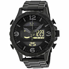 Fossil Original JR1507 Mens Nate Black Stainless Steel Watch 50mm Analog Digital