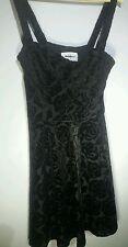 Abercrombie Fitch Black Velvet Skater Dress Medium NWT Z17