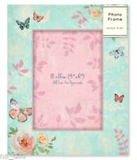 "PHOTO FRAME HOME freeestanding Butterfly & ROSE 10x15cm 4"" x 6"" girls ladies"
