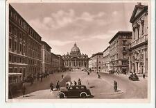 INSOLITA CARTOLINA DI ROMA 1949 AUTO D' EPOCA