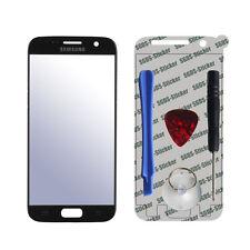 Frontglas Display Ersatzglas Screen + Werkzeug für Samsung Galaxy S7 Schwarz