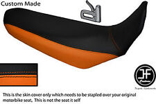 BLACK & ORANGE VINYL CUSTOM FITS YAMAHA XT 660 X 2004-2017 SEAT COVER