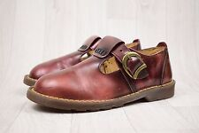 Ladies Vintage Made In England Dr Martens Brown Marbled Leather Shoes Size UK 3