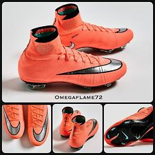 Sz 8.5 Nike Mercurial Superfly FG Football Boots 641858-803 Ankle Mango
