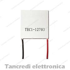 Cella di peltier TEC1-12703 46W 12V 3A 30x30mm 15.4V raffreddamento cpu cooler