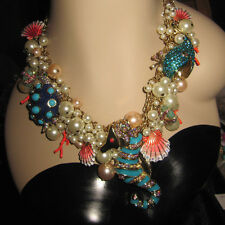 BETSEY JOHNSON RARE BETSEY AND THE SEA SEAHORSE STATEMENT NECKLACE