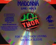 Madonna Live Vol. 2 Australian CD Super Rare 1993 Lucky Star Papa Don't Preach