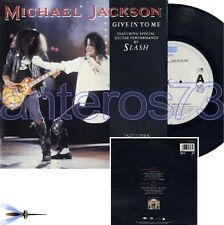 """MICHAEL JACKSON """"GIVE IN TO ME"""" RARE 45RPM + POSTER"""