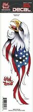 Lethal Threat US USA Eagle Flag Sticker Decal For Motorcycle Fairing Fork