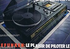 PUBLICITE ADVERTISING 095 1977 Telefunken la Hi-Fi  (2 pages)