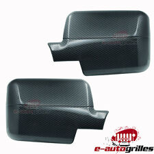 Black Carbon Fiber Look Mirror Cover for 04-08 Ford F-150+06-08 Lincoln Mark LT