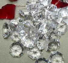 50 große Deko Diamanten Acryl 32mm Hochzeit Tischdeko Diamant klar