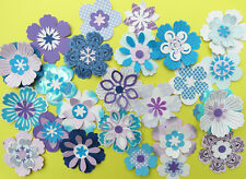 Purple/Blue flowers to make.Cardmaking embellishments kit.Some Stampin Up items