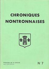 CHRONIQUES NONTRONNAISES + GRHIN N° 7 + ETOUARS, NONTRON, ST-PARDOUX-LA-RIVIERE
