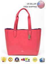 New Coach F58660 Derby Tote Bag in Pebble Leather Handbag Shoulder Strawberry