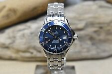 WOMENS OMEGA SEA MASTER WITH BLUE DIAL AND DATE FEATURE