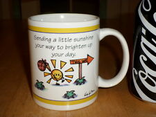 SENDING A LITTLE SUNSHINE YOUR WAY, Ceramic Coffee Cup / Mug, Vintage