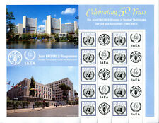 United Nations UN 2014 Vienna 50th Anniv Joint FAO/IAEA Personalized Sheet Stamp