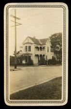 1927 Snapshot, White Home by Carl O. Newton, San Antonio, Texas