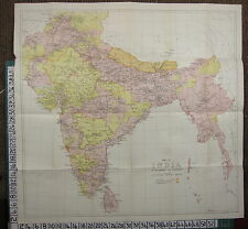 1926 INDIA INDIAN TOURIST MAP ~ INDIA MYSORE MADRAS CEYLON NEPAL BURMA ORISSA