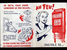 """LE MANS (72) Assurance """"MUTUELLE DU MANS"""" Tract préventif contre incendie"""