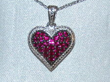 SWEET Ruby (1 ctw.) Heart Necklace, New w/Tags, in Box, $199 Retail