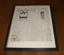 1916 BOSTON RED SOX WIN WORLD SERIES FRAMED 11x14 NEWSPAPER PRINT