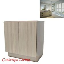 "30"" European Style Double Door Bathroom Vanity / Cabinet - Birch Wood Pattern"