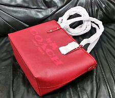 Coach Metro Small Tote Coated Canvas Horse & Carriage (F36588, Red, NWT)