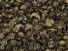 Charms Asst Shapes Antique Gold Plastic 50pc Jewellery Jewelry FREE POSTAGE