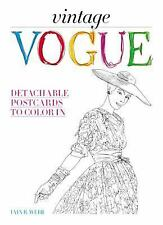 Vintage Vogue : Detachable Postcards to Color In by VOGUE and Iain R. Webb...